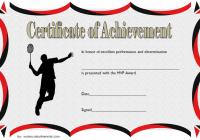 Badminton Achievement Certificate Template 3