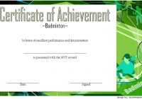 Badminton Achievement Certificate Template