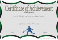 Badminton Achievement Certificate Template 5
