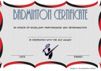 Badminton Certificate Template 5