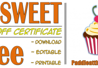 Bake Off Certificate Template FREE Download by PAddle