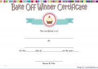 Bake Off Certificate Template 1