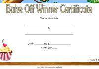 Bake Off Certificate Template 2