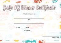 Bake Off Certificate Template 3