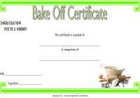 Bake Off Certificate Template 4