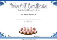 Bake Off Certificate Template 5