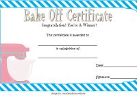 Bake Off Certificate Template 6