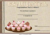 Bake Off Certificate Template 7