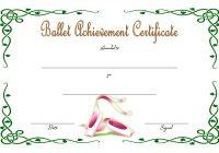Ballet Certificate Template 1
