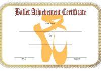 Ballet Certificate Template 2
