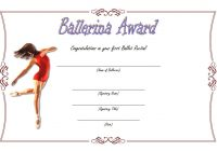 Ballet Certificate Template 3