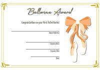 Ballet Certificate Template 4