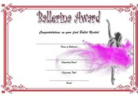 Ballet Certificate Template 5
