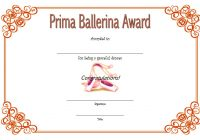 Ballet Certificate Template 6