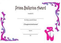 Ballet Certificate Template 7