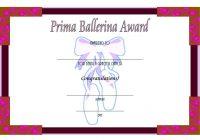 Ballet Certificate Template 8