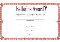 Ballet Certificate Template 9