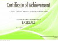 Baseball Achievement Certificate Template 1