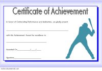 Baseball Achievement Certificate Template 3