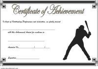 Baseball Achievement Certificate Template 4