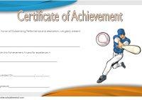 Baseball Achievement Certificate Template 5