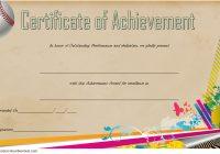 Baseball Achievement Certificate Template 6