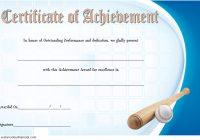 Baseball Achievement Certificate Template 7