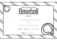 Baseball Award Certificate Black White
