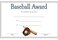 Baseball Award Certificate Template 2