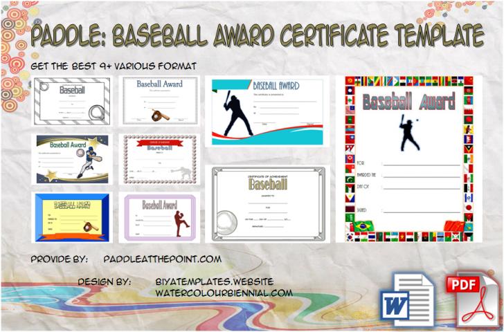 Permalink to Baseball Award Certificate Template – 9+ Best Designs FREE