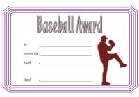 Baseball Award Certificate Template for Catcher