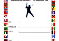 Baseball Award Certificate Template for League