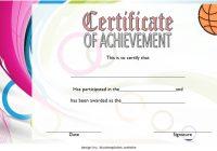 Basketball Achievement Certificate Template 1