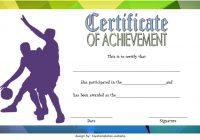 Basketball Achievement Certificate Template 2