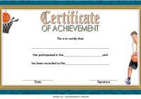 Basketball Achievement Certificate Template 3