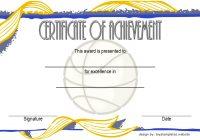 Basketball Achievement Certificate Template 5