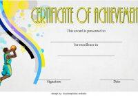Basketball Achievement Certificate Template 6