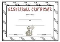 Basketball Certificate Template 4