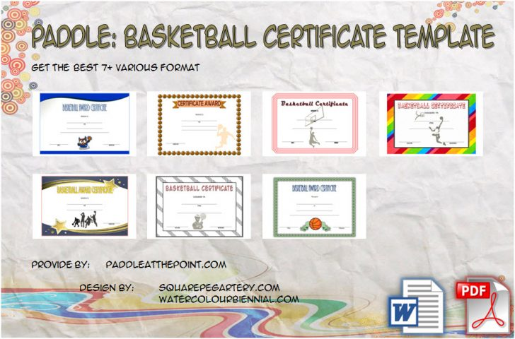 Permalink to Basketball Certificate Template