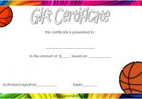 Basketball Gift Certificate Template 1