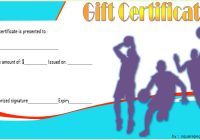 Basketball Gift Certificate Template 3