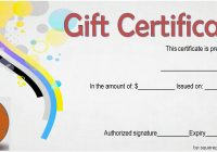 Basketball Gift Certificate Template 5