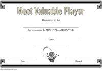 Basketball MVP Certificate Template 1
