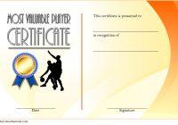 Basketball MVP Certificate Template 2