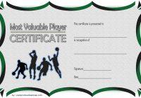 Basketball MVP Certificate Template 3