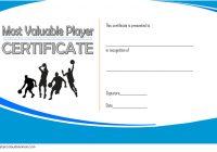 Basketball MVP Certificate Template 4