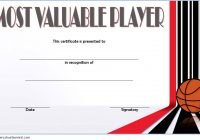 Basketball MVP Certificate Template 6