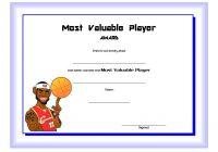 Basketball MVP Certificate Template 7