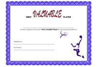 Basketball MVP Certificate Template 8
