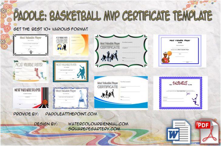 Permalink to Basketball MVP Certificate Template